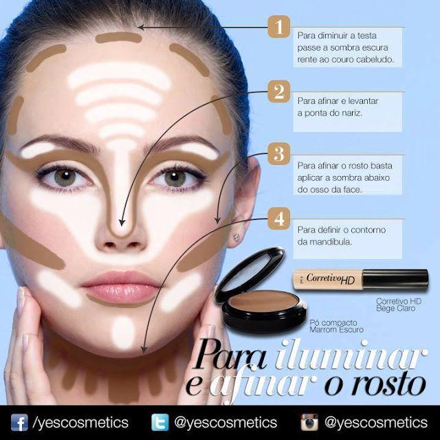 As Mulheres de Hoje: Maquiagem: Dicas de como iluminar e afinar o seu rosto
