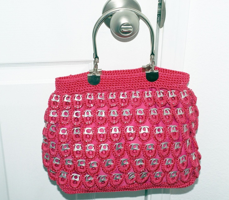 Recycled Soda Tabs  Pink Purse. $85.00, via Etsy.