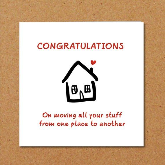New Home Congratulations Card Moving House Flat Apartment Etsy Moving House New Home Cards House Warming