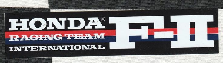 HONDA F2 INTERNATIONAL RACING TEAM ORIGINAL PERIOD RACING STICKER AUTOCOLLANT