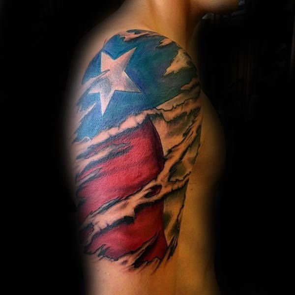 70 Texas Tattoos For Men Lone Star State Design Ideas Ripped