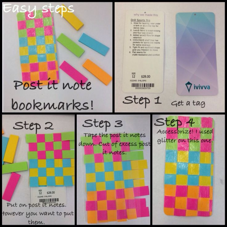 Post it note bookmarks