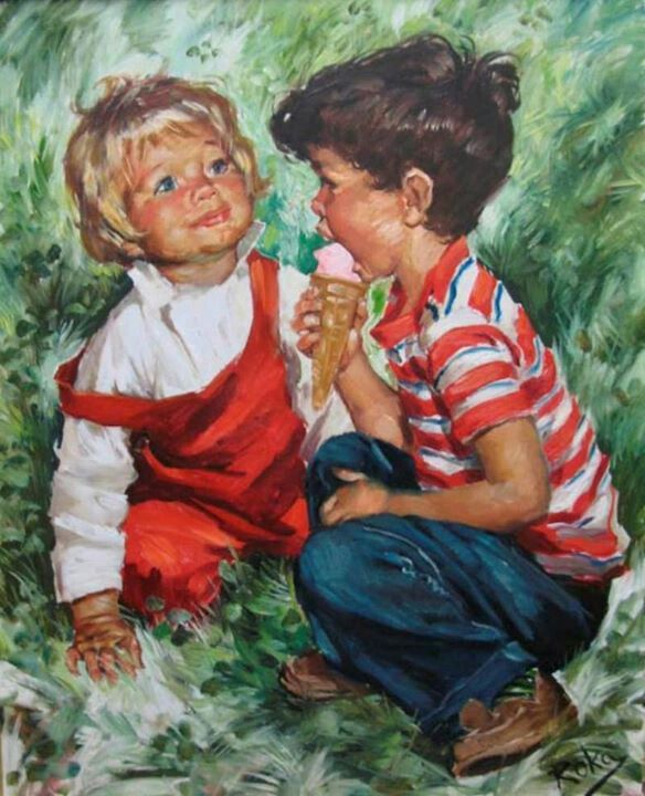 By charles roka children pinterest for Paintings of toddlers