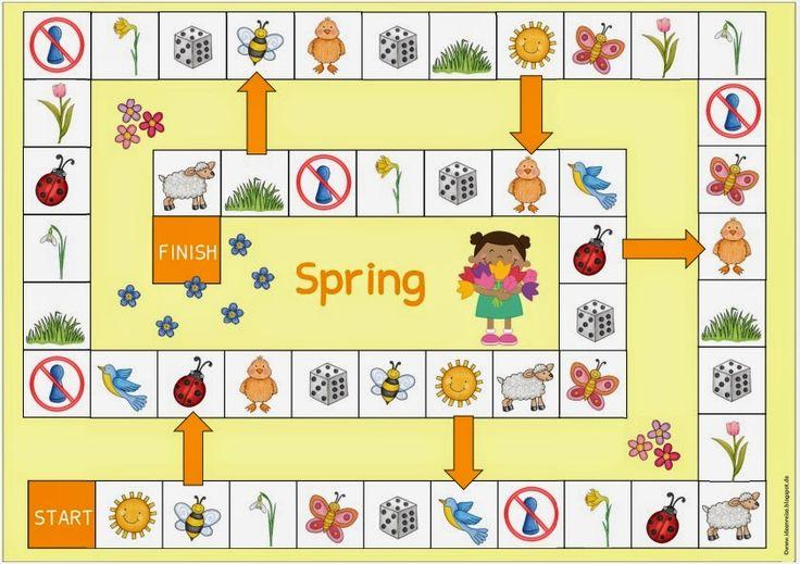 """Ideenreise: Spielfelder """"Ostern/Frühling"""" (für Englisch und Da..."""