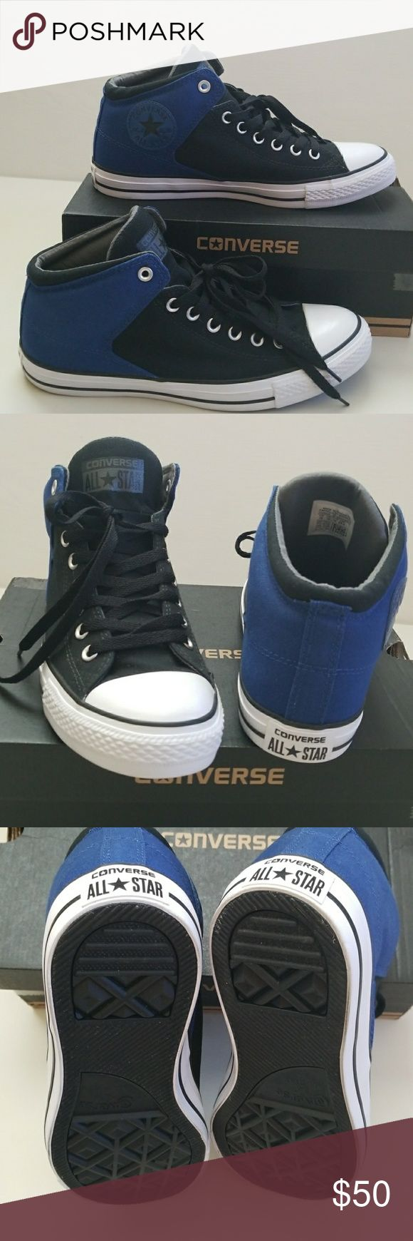 NWT Men's Converse New super cool Converse hi-tops. Thicker canvas, padded collar,  perfect for cooler weathers. Converse Shoes Sneakers
