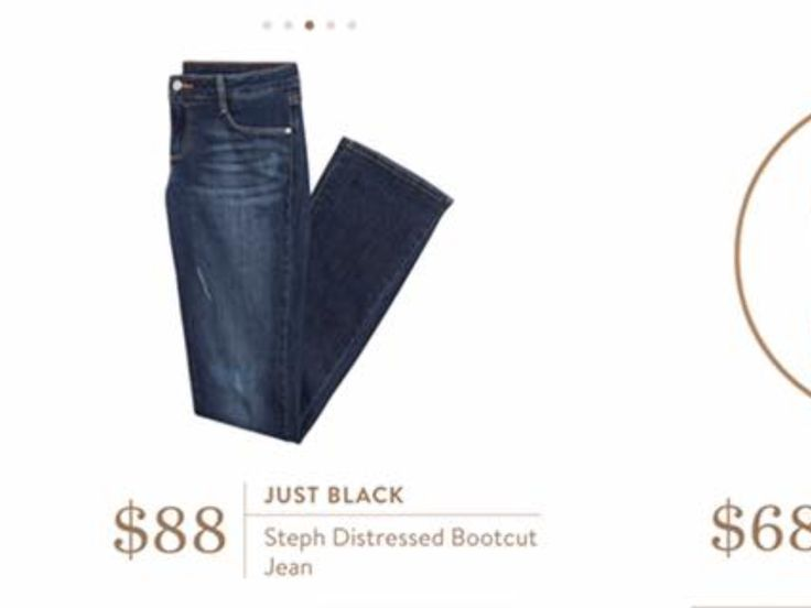 Just Black Steph Distressed Bootcut Jean