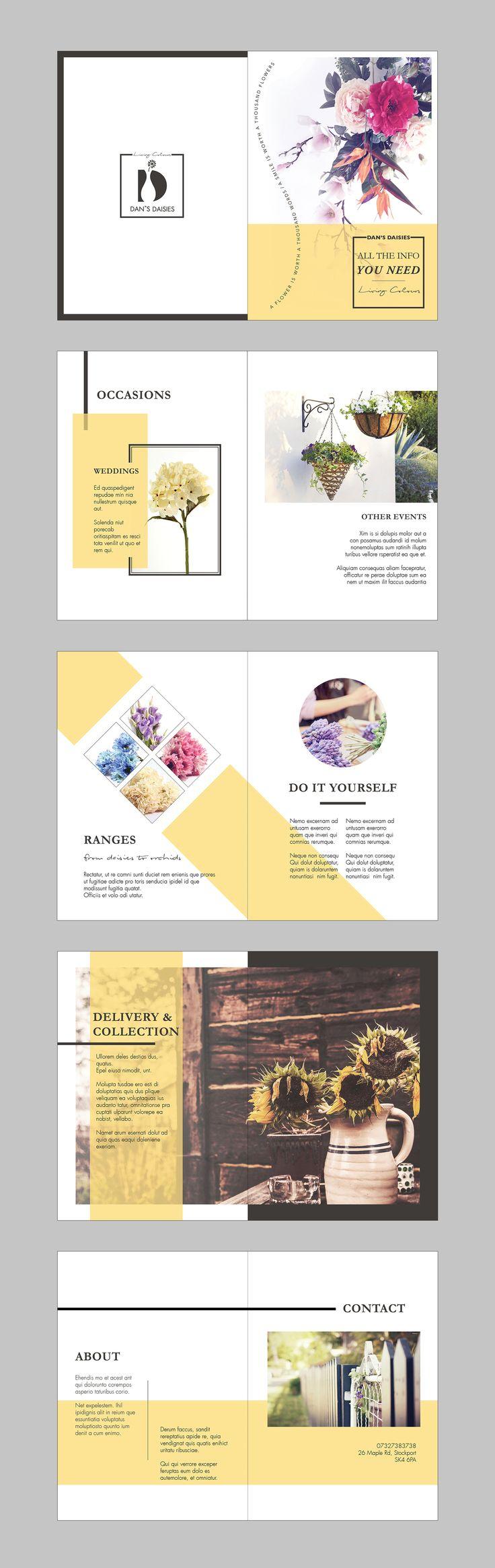 10 best scar ruiz images on pinterest stems cake and fruit flan dans daisies brochure designed by miya levy graphic design brochure design solutioingenieria Images