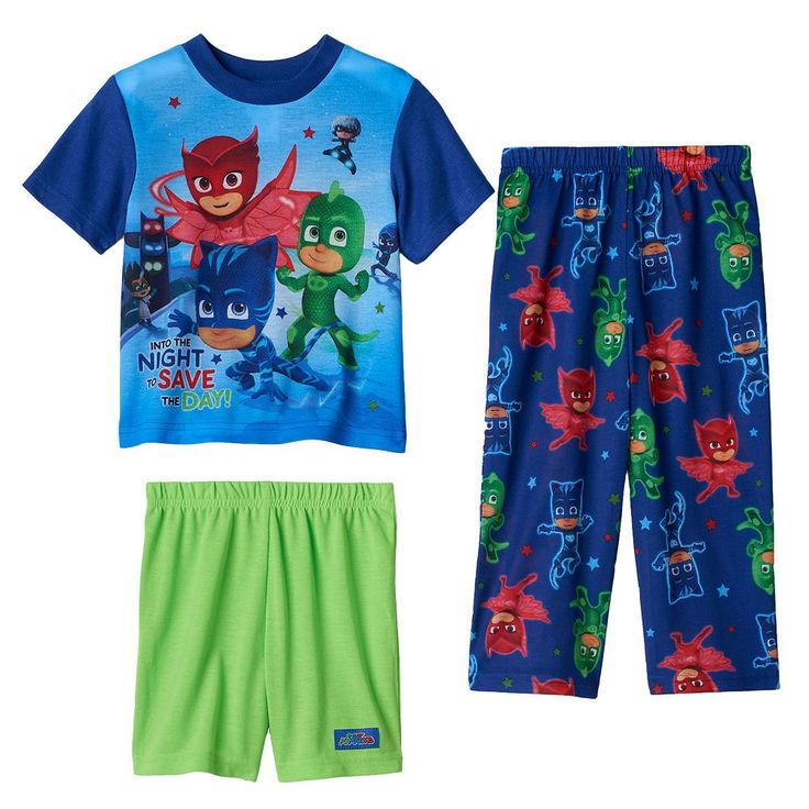 Toddler Boy PJ Masks Gekko, Catboy & Owlette 3-pc. Pajama Set, Size: 3T, Multicolor