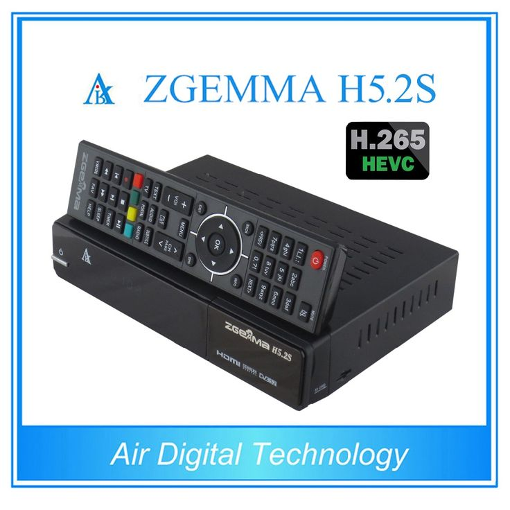 5 pcslot zgemma h5.2s twin tuner dvb s2s satellite tv receiver with h.265 decoding