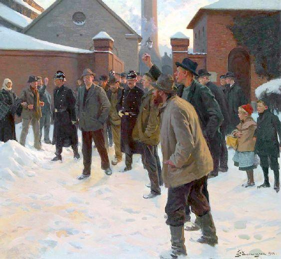The Strike, by Erik Ludvig Henningsen (1855-1930), Denmark.