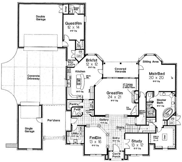 Unique Home With Skylights And Central Courtyard: 15 Best Images About House Plans On Pinterest