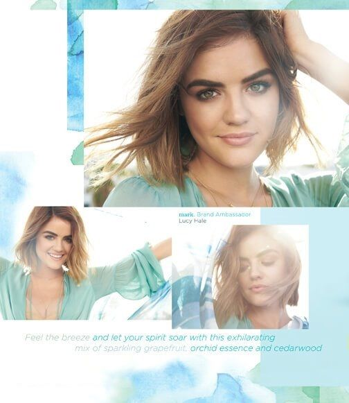 ... sparkling grapefruit, orchid essence and cedarwood. #lucyhale @