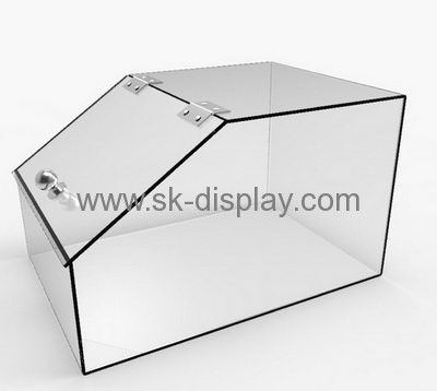 Custom Design Plastic Food Storage Container Acrylic Storage Box  Transparent Plexiglass Box With Hinge And Lid