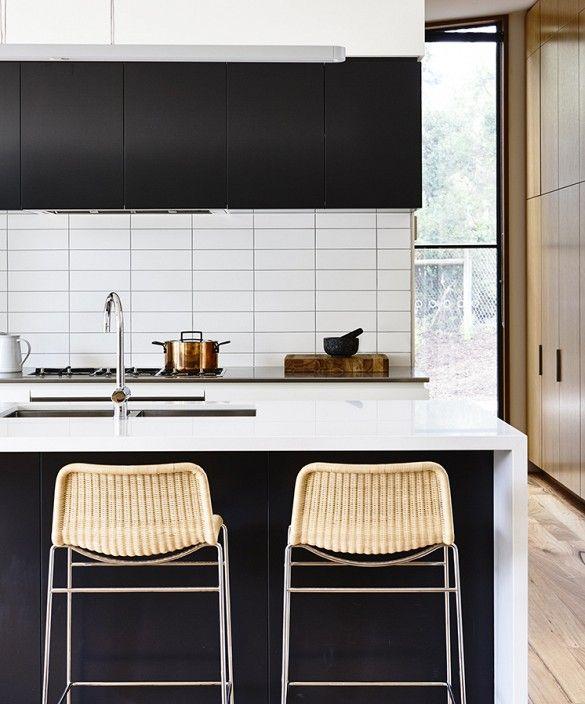 Modern Black & White Kitchen in Australia