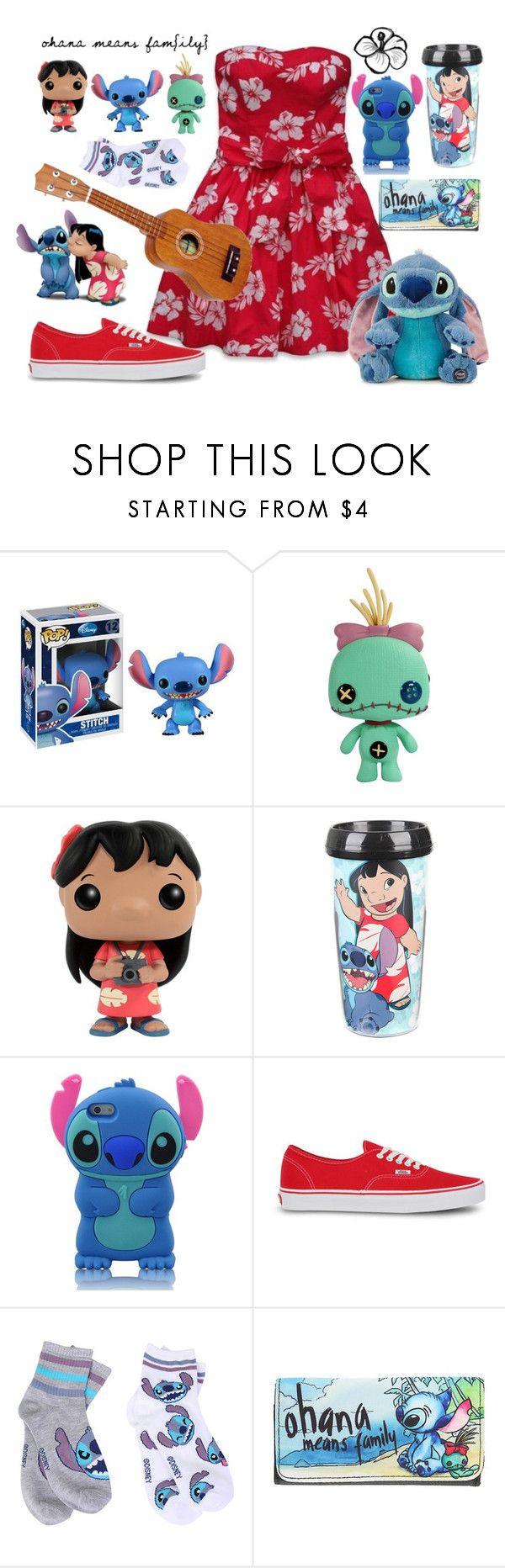 """Lilo and Stitch"" by thatidiotchild ❤ liked on Polyvore featuring Disney and Vans"