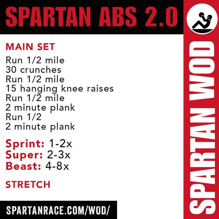 Spartan Sprint (identical to PT suggestion to incorporate running back into workouts)