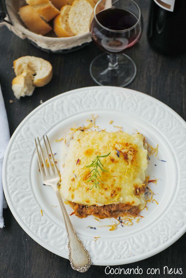 Neus cocinando con Thermomix: Pastel de carne con puré de patata