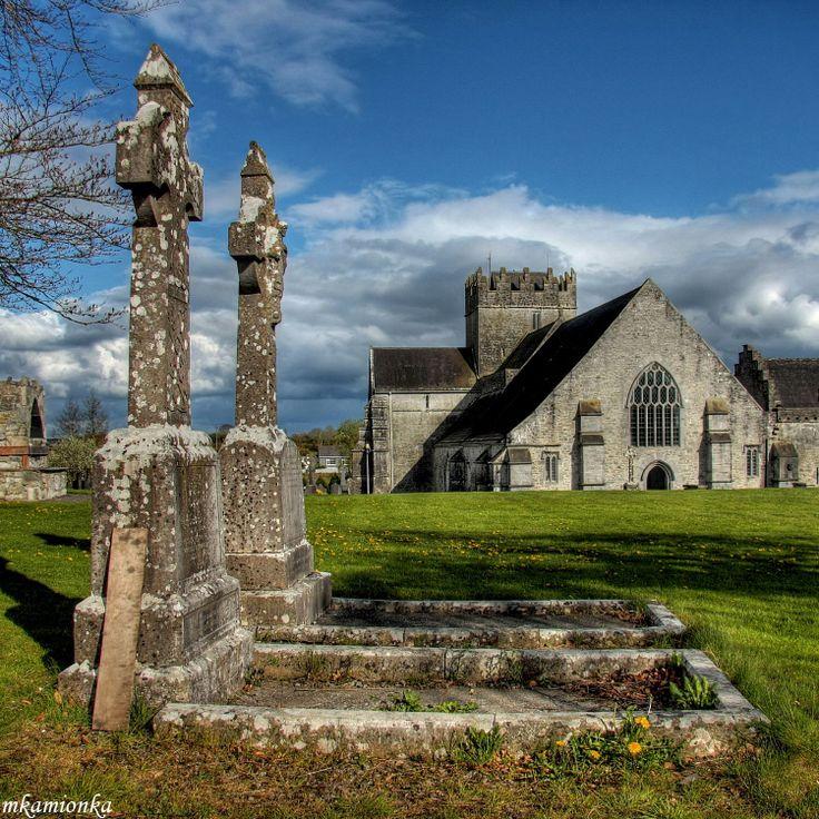 Holy Cross - The Holy Cross Abbey is a restored Cistercian monastery in Holycross near Thurles, County Tipperary, Ireland, situated on the River Suir. By Mariusz Kamionka, via TrekEarthRestoration Cistercian, County Tipperary, Cistercian Monastery, Ireland, Mariusz Kamionka, King John, Holy Rood, Crosses Abbey, Holy Crosses