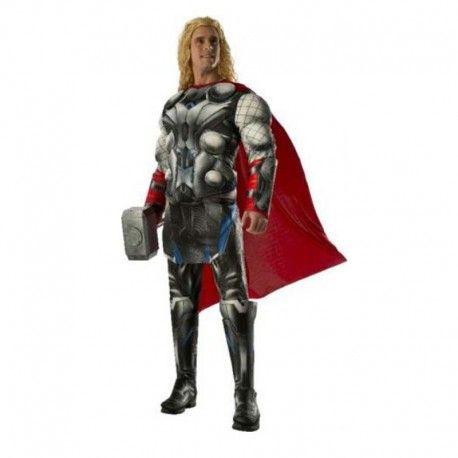 Disfraces Personajes hombre | Disfraz de Thor adulto musculoso. Contiene cubrebotas, traje musculado con capa y manguitos-muñequeras. Talla M/L. 59,95€ #thor #disfrazthor #disfraz #superheroe #disfrazpersonaje #disfraces