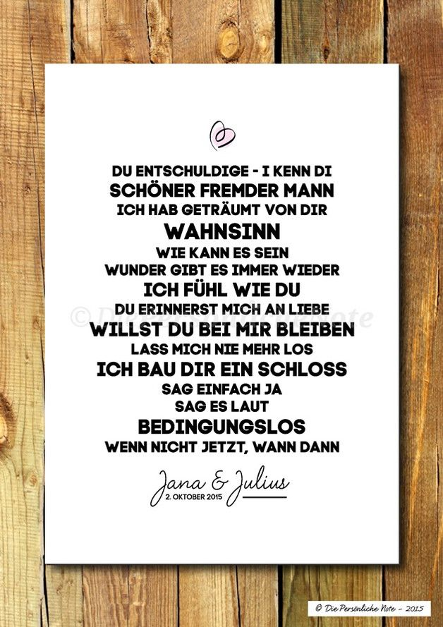 Gastgeschenke - Druck/Print: Liebesgeschichte-Lovesongs-Hochzeit - ein Designerstück von DiePersoenlicheNote bei DaWanda