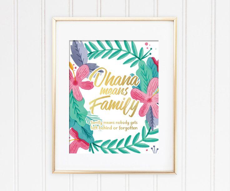 Un favorito personal de mi tienda de Etsy https://www.etsy.com/es/listing/549236212/ohana-means-family-print-ohana-means