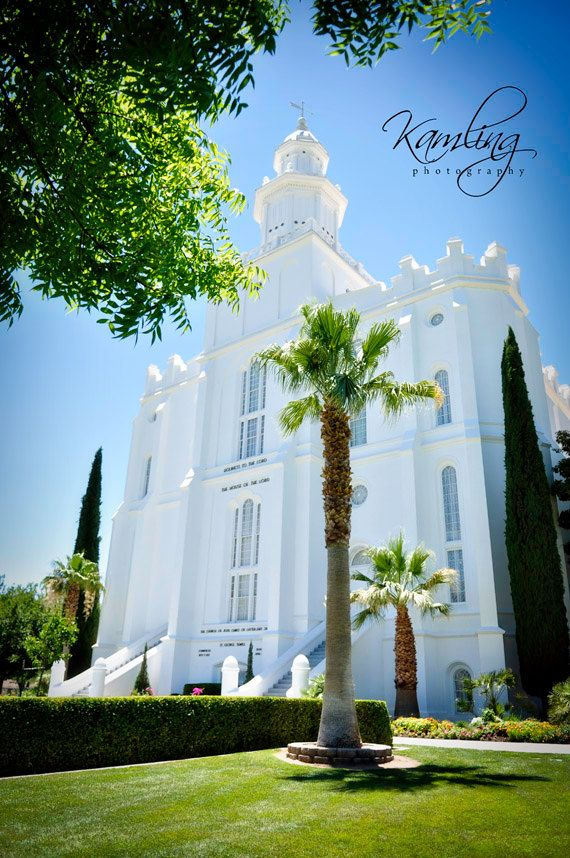 Under the trees - St. George, UT LDS Temple - Digital Photography download