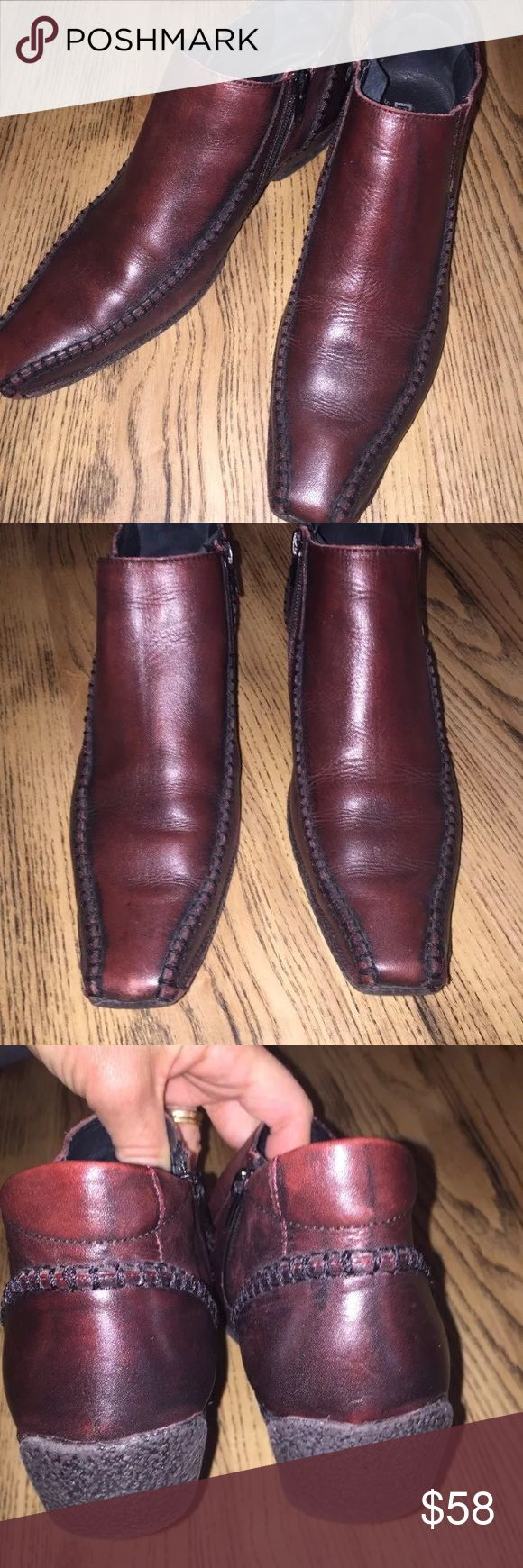 """Pikolinos men ankle shoe cognac leather drive heel Beautiful cognac leather. Stitch accent on toe and heel. Rubber soles with driving heels. Excellent condition. Great treads. Side zipper entry.   European size 40  Aprox 1"""" rise heel  Moderate toe point  Spanish Design  Lined: fits like a 9-9.5 very comfortable PIKOLINOS Shoes Boots"""