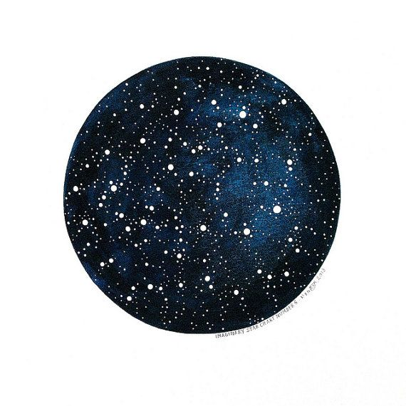Imaginary Star Chart Number 6 - Original Watercolour Art - 10x12 Painting - Circle Constellations Night Sky - by Natasha Newton on Etsy, $148.00