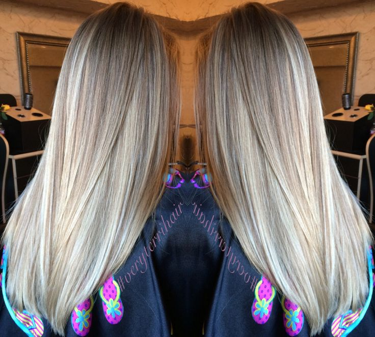 Hair by me!  Balayage blonde highlights. #paintedhair #veryterrihair