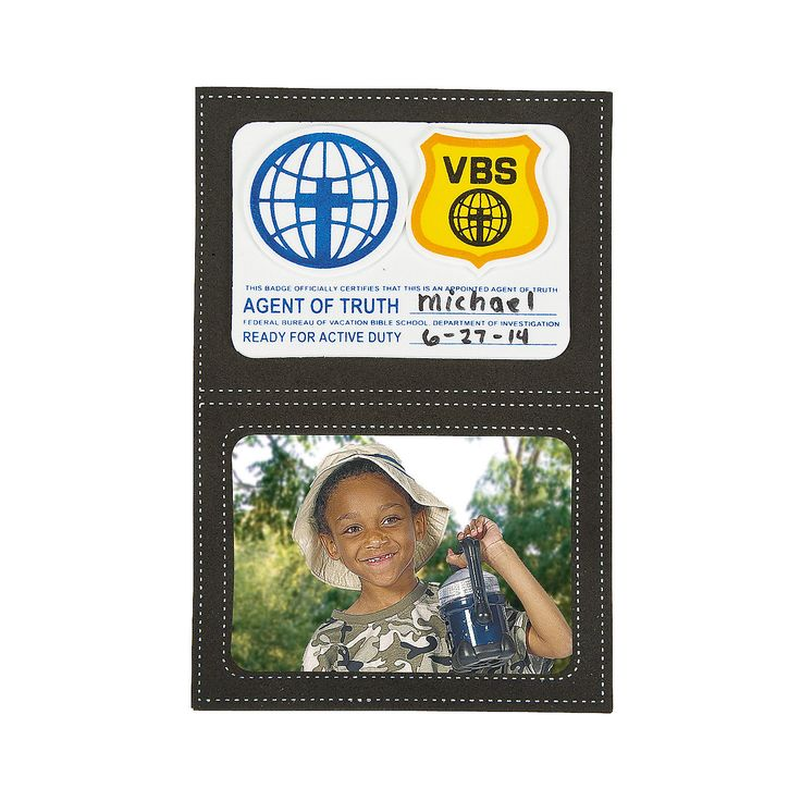 Agents of Truth Magnetic Picture Frame VBS Craft Kit - OrientalTrading.com