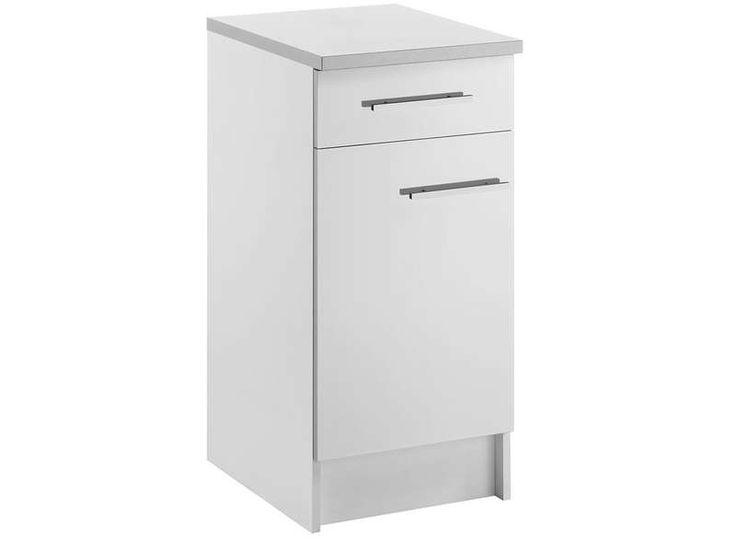 affordable meuble bas cm porte tiroir spoon shiny blanc vente de with meuble de wc conforama. Black Bedroom Furniture Sets. Home Design Ideas