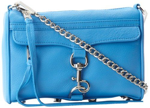 Rebecca Minkoff Mini Mac H001E001 Clutch,Cerulean,One Size