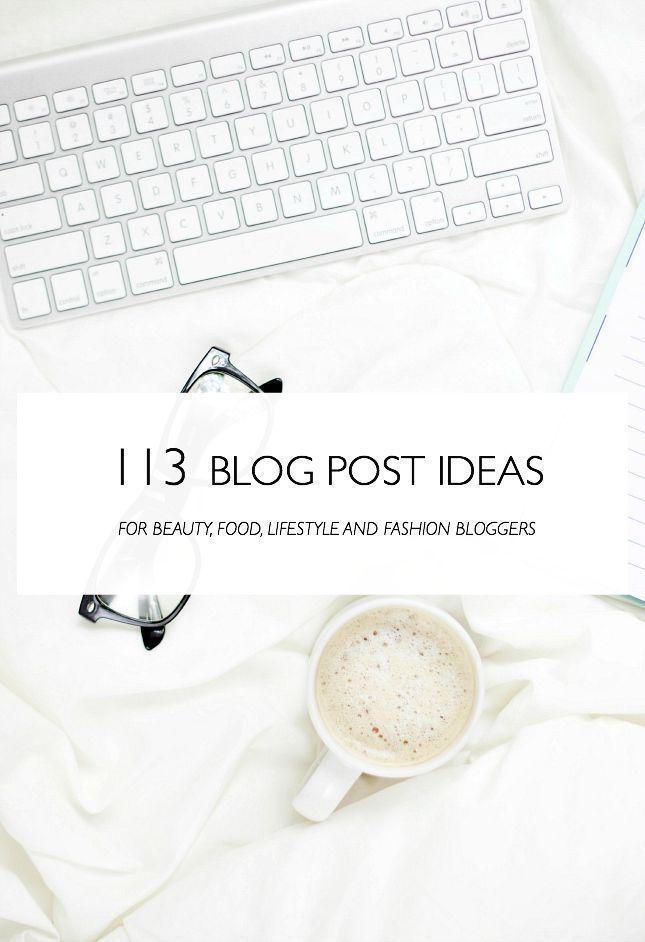 Ideas para artículos de blog: Estilo de vida /Belleza / Comidas / Moda