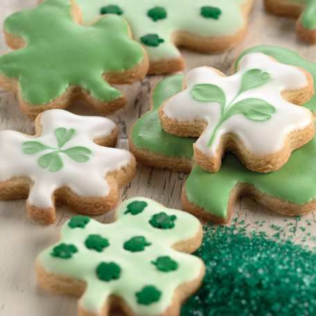 St. Paddy's Day Cookies via King Arthur Flour