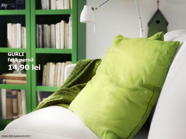 Dacă verdele este culoarea ta preferată, atunci sigur îți va plăcea și perna GURLI. Până pe 26.02.2017, o poți găsi la un preț special.