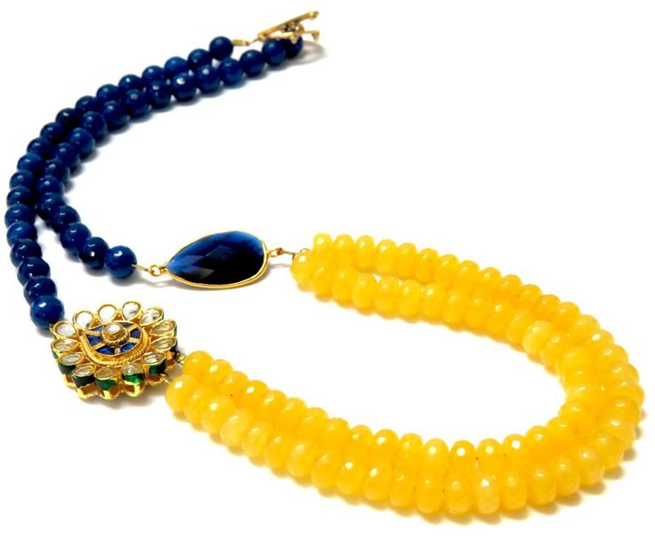 asymmetrical necklace indian style - Google Search