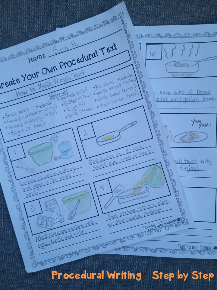 Procedural Writing - Step-by-Step.  Great way for students to evaluate real-world procedural writing samples and to create their own procedural text.  Includes template, sample, rubrics, topic ideas, and more.