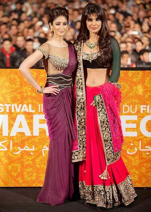 Priyanka Chopra, Ileana D'cruz Dazzle Marrakech Film Fest #Bollywood #Fashion