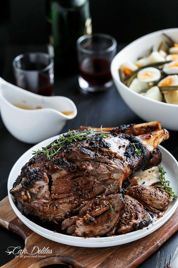 Sundried Tomato and Garlic Roast Lamb | http://cafedelites.com