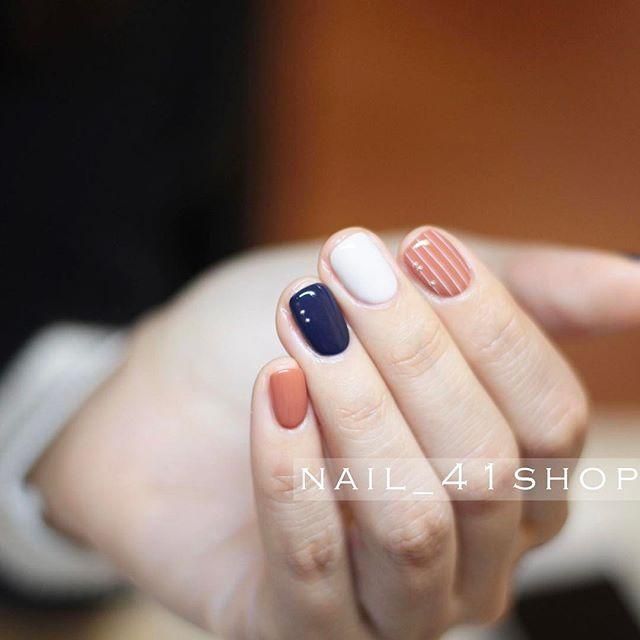 """OPI Gel - burnt orange #27 - beige #100 - dark blue """"darkest blue (?)"""""""