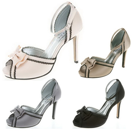 GBP4699 Linda Baby Pink Grey Black Or Taupe Wedding Shoes 105cm