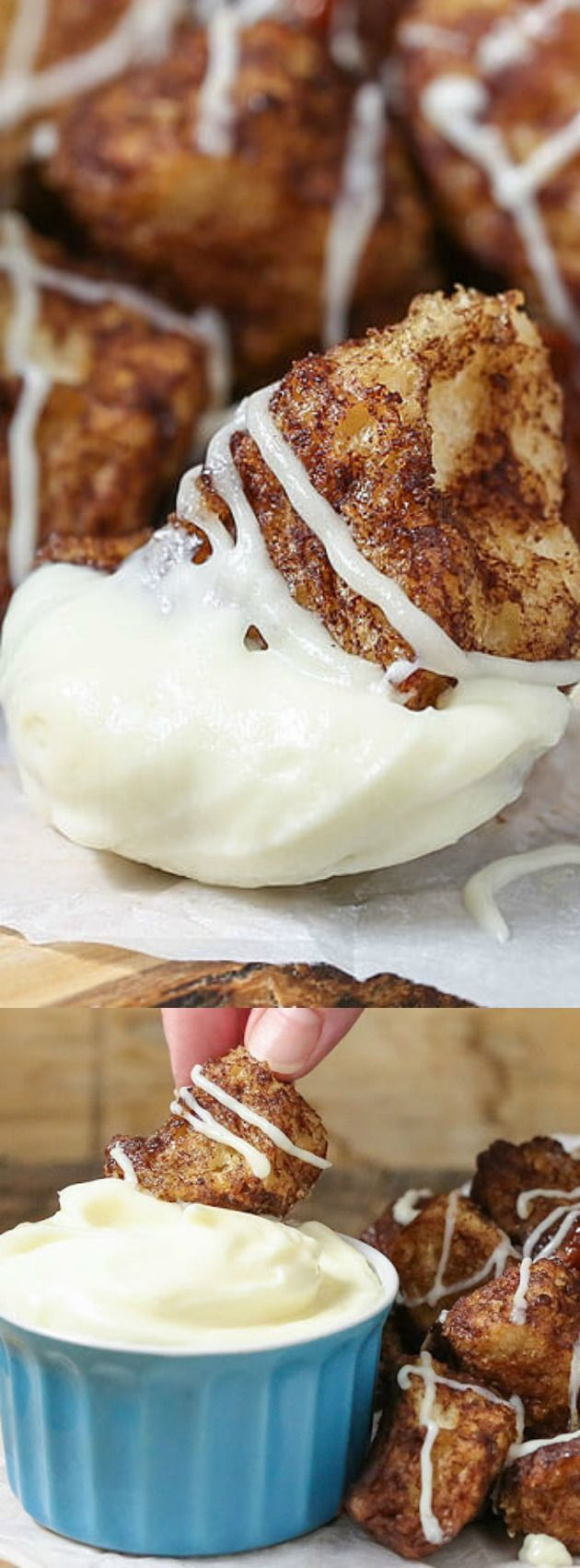 This Slow Cooker Cinnamon Roll Pull Apart Bread from The Slow Roasted Italian is not only delicious, but it is SO simple to make too! The recipe combines everything you love about monkey bread and homemade cinnamon rolls into one delicious sweet treat!