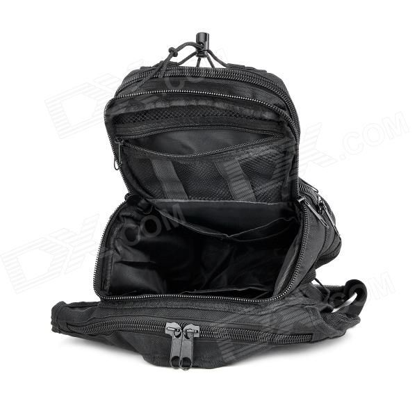 800D Nylon Outdoor Mountaineering Camping Chest / Shoulder Bag- Black - Free Shipping - DealExtreme