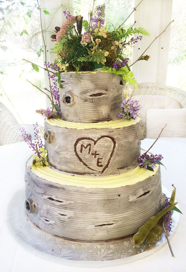 Birch Tree Wedding Cake Look Closely And You Ll See This Ercream