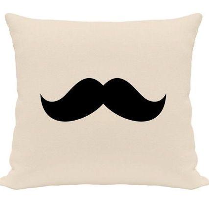 """Funda de Cojín """"Bigotes"""" #cojines #bigotes #moda #decoración #dormitorios #diseño"""