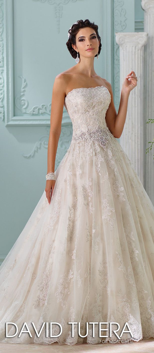 David Tutera for Mon Cheri Spring 2016 Wedding Dress - Belle The Magazine