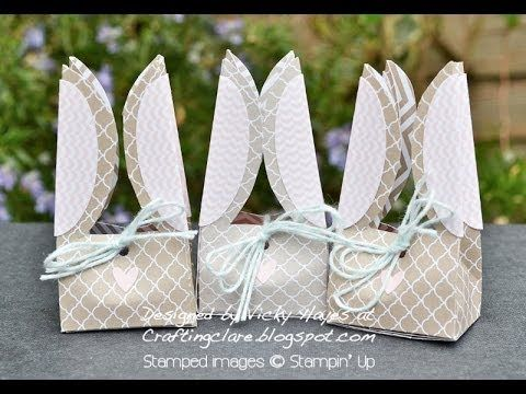 Stampin' Up Easter Bunny Box with Ears - YouTube