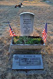 Grave of Wesley Everest, Sticklin-Greenwood Memorial Park, 1905 Johnson Rd., Centralia, Washington, USA. His grave site is on the National Register of Historic Places.