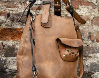 Übergroße Ladybuq Frau Design Tasche Alicja Whisky von ladybuq