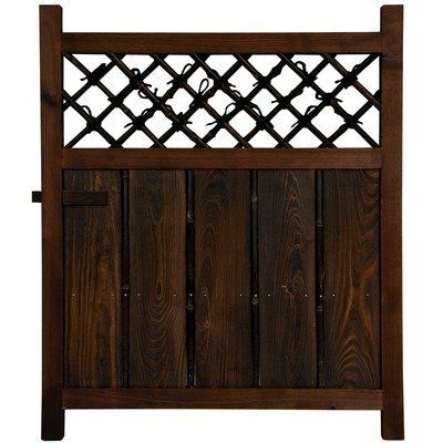 """Oriental Furniture Simple Rustic Beautiful, 3-Feet Tall Japanese Garden Gate Wooden Fence Door WD96232 by ORIENTAL FURNITURE. $104.00. 29 1/2"""" by 35 1/2"""", beautiful rustic design japanese garden gate. Hand crafted zen design w/kiln dried wood and bamboo. Intended for professional installation, no hardware or weather proofing included. Browse bamboo fence and trellis products for japanese gardens on amazon.com. A simple, beautifully crafted japanese style wood and bambo..."""